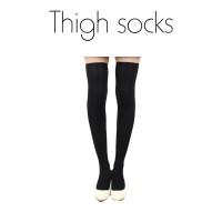 Thigh Socks / Tight / Kaos Kaus Kaki Sepaha Hitam Cosplay