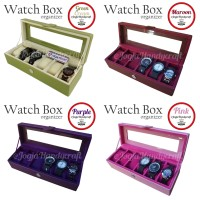 FLASH SALE Kotak Jam Tangan Isi 6 - Box Jam - Tempat Jam - Watches Box