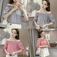 Harga b gf sabrina off shoulder gil baju atasan wanita cewe blouse kerja | Pembandingharga.com