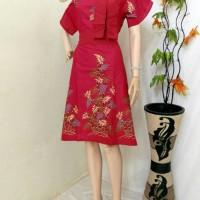 Couple Batik / Baju Batik / Setelan Kebaya Blouse / Dress Batik Bunga
