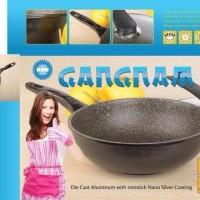 (Dijamin) Panci Wok Gangnam 30 cm Lapisan Marble