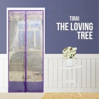 Magic Mesh Tirai Magnet Anti Nyamuk Motif The Loving Tree - Tirai Pint