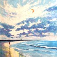Lukisan Balangan Beach Oil Painting On Canvas