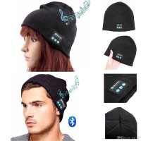 Promo Topi Kupluk Beanie Multifungsi Handsfree Earphone Cover Helm Blu