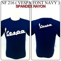 kaos spandex navy motor vespa font logo reggae rasta baju distro shirt