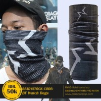 Aksesoris Game Bandana Multifungsi Masker WatchDogs- Bf Watch Dogs