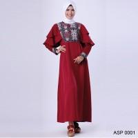 ASP 0001 | Baju Gamis Wanita Muslim branded Garsel Fashion 2018