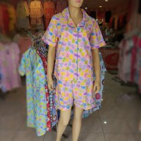 Setelan Piyama Katun Daster Sleepwear Baju Tidur 3342887 Chick Pink