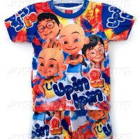 Setelan Anak Upin Ipin - Baju celana Anak Gambar Kartun