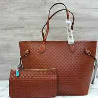Gucci Tote Include Pouch Emboss Tote / Hand Bag / Tas Kerja Wanita