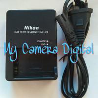 Charger Nikon Mh-24 Mh 24 Mh24 For D3100 D3200 D3300 D3400 D5100 D5200