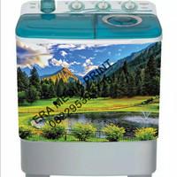 stiker mesin cuci 2 tabung taman