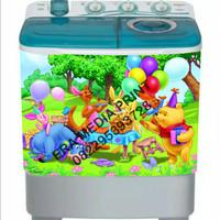 stiker mesin cuci 2 tabung Winnie the Pooh