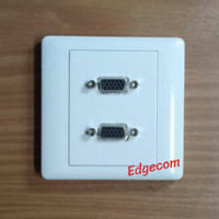Faceplate VGA Double Port