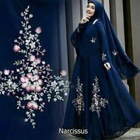 Baju Gamis Wanita Muslimah Syari Maxi Narcissus (Navy)
