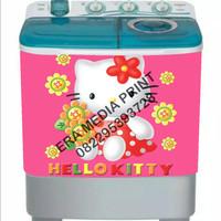 stiker mesin cuci 2 tabung hello Kitty