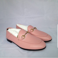 Sale Sepatu Wanita Gucci Slip On softpink Original Authentic