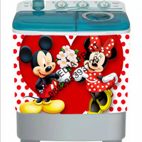 stiker mesin cuci 2 tabung mikymouse