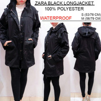 Original ZARA Women Black Coat - Jaket Musim Dingin Wanita Parka Hitam
