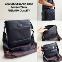 BAG GUC CI BLACK 8812 TAS SELEMPANG PRIA PREMIUM