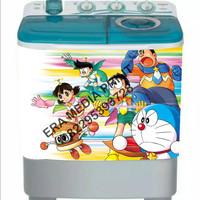 stiker mesin cuci 2 tabung Doraemon