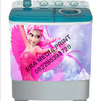 stiker mesin cuci 2 tabung Frozen