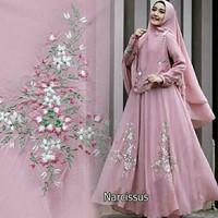 Baju Gamis Wanita Muslimah Syari Maxi Narcissus (Pink)