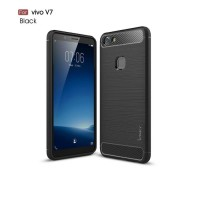 Hard Soft Case VIVO V7 Casing HP IPAKY Carbon Armor Silikon Cover 3D