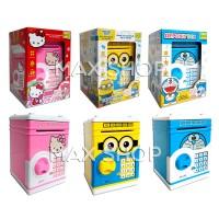 Celengan Safe Bank Brankas / Deposit Box Angry Birds / Doraemon / HK