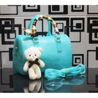 PROMo!!- Tas Branded Furla Jelly Speedy Glitter Tas Jelly free Teddy