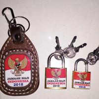 Paket Gembok Plus Gantungan Kunci Koper Haji Jamaah Indonesia