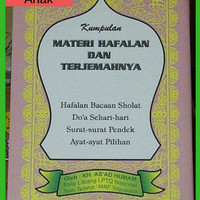 Buku Anak TKA, TPA, SD Materi Hafalan bacaan shalat, surat pendek, dll