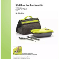 Tupperware Bring Your Own Lunch Set Bekal Makan BYO B.Y.O