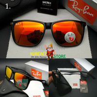 Kacamata Sunglass Fashion Gaya Pria Wanita Ray ban Carbon 4129 Polar