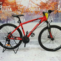 SEPEDA GUNUNG UNITED DETROIT 1.0 MTB 27,5 INCI 24SPEED ALLOY FRAME RED