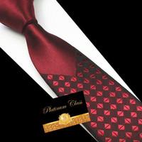 dasi pria import slim merah maroon platinum class