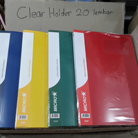 Clear Holder 20 lembar Folio / F4 Map Document Display Book 20 Pockets