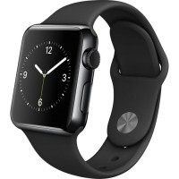 Apple Watch 2015 38mm Black Stainless Steel with Black Sport Band BNIB