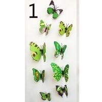 Tempelan Dinding Kulkas Kupu-Kupu 3D Butterfly Kupukupu Magnet