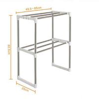 Jual Microwave Storage Rack Rak portable serbaguna 2 susun