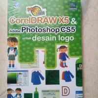 ORIGINAL COREL DRAW X5 DAN ADOBE PHOTOSHOP CS5 UNTUK DESAIN LOGO BUKU
