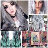refill silver grey mirip manic panic blue steel pravana cat rambut