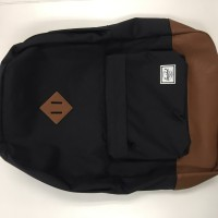Herschel Heritage Backpack - Black with Brown Leather