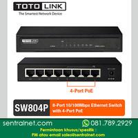 SWITCH POE - TOTOLINK SW804P - 8 port 10/100Mbps - 4 POE