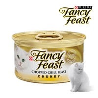purina fancy feast chopped grill chunky 85gr 85 gr wetfood can kaleng