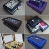 Kotak Tempat Jam Tangan Isi 12 Kualitas Super Full Color [PROMO]