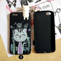 Vivo Y69 Mimi 3D Cat Hello Kitty Soft Case Silicone Back Cover Casing