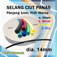 Selang Ciut Panas/Heat Shrink Tube 14mm 1 meter
