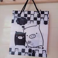 paper bag monokuro boo lucu, tas, goodie bag