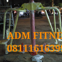 Chespres two seat Alat fitnes Outdoor out door fitness taman olahraga